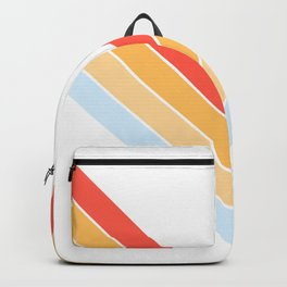 Symmetric V Shape Colorful Classic Retro Stripes Oneuli Backpack