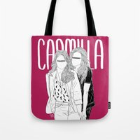 carmilla Tote Bags featuring Hollstein by saintsandstorms
