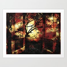 Enter the fertile garden of light and dispel the darkness of the night Art Print