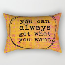 You Can Always Get What You Want Abstract Art Collage Rectangular Pillow