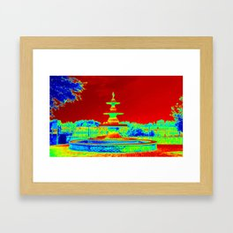 Colorful Fountain Framed Art Print
