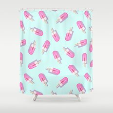 Pink Popsicles Pattern Shower Curtain
