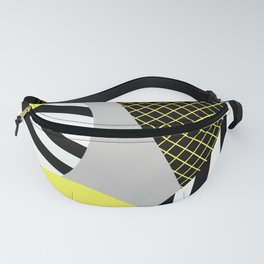 Eclectic Geometric - Yellow, Black And White Fanny Pack