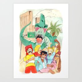 Denver l'affamé dinosaure / Denver the hungry dinosaur Art Print