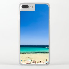 The beach of Chia su Giudeu, Sardinia Clear iPhone Case
