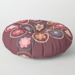 My garden flowers (Pattern artwork) Floor Pillow