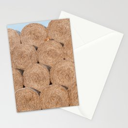 Fox on a haystack Stationery Cards