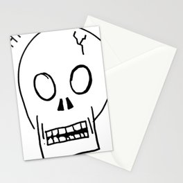 A Picture of a Skull Stationery Cards