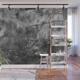 Owl Spirit in the Woods, Shades of Gray Wall Mural