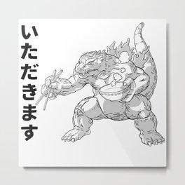 Kaiju Ramen Metal Print