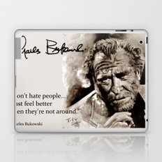 BUKOWSKI - people QUOTE #2 - sepia Laptop & iPad Skin