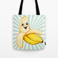 banana Tote Bags featuring Banana by Kelly Gilleran