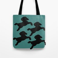 pony Tote Bags featuring pony by gasponce