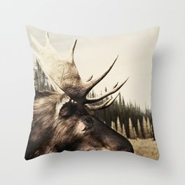 Tom Feiler Moose Throw Pillow