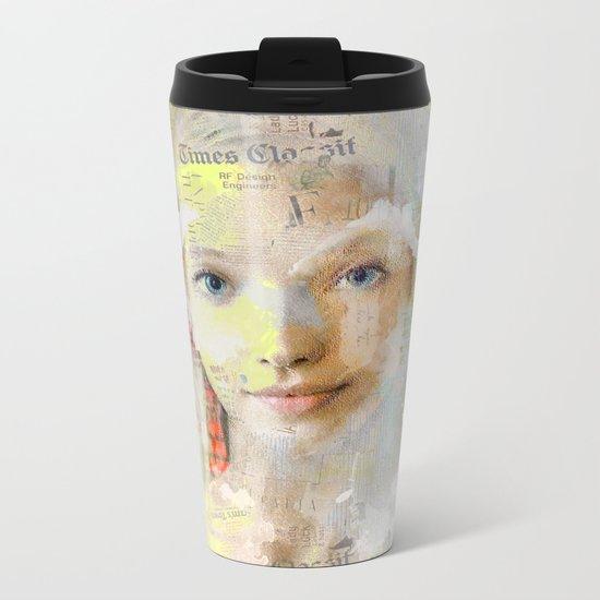 The nice girl Metal Travel Mug