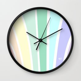 Kirovair Art Deco Pastel Rainbow #minimal #art #design #kirovair #buyart #decor #home Wall Clock
