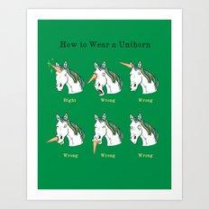 Unihorn 101 Art Print