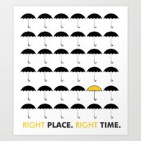 himym Art Prints featuring HIMYM: Right Place, Right Time by mhdesigns
