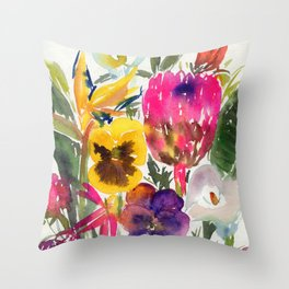exotic flowers and more Throw Pillow