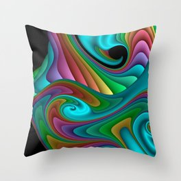 fractal squares -04- Throw Pillow