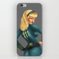 fallout iPhone & iPod Skins featuring Fallout girl by JuliaTara