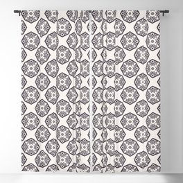 Seamless vector pattern. Hand drawn mosaic tile shapes Blackout Curtain