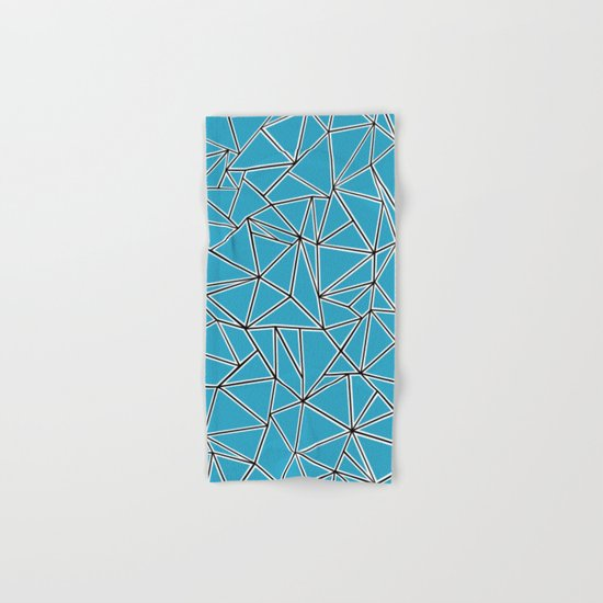 Shattered Ab Blue Hand & Bath Towel
