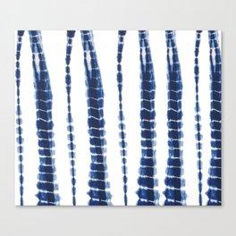 Indigo Blue Tie Dye Delight Canvas Print