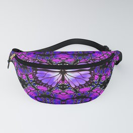 Dynamic Circular Butterfly Graphic Fanny Pack