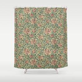 """William Morris """"Honeysuckle"""" 1. Shower Curtain"""