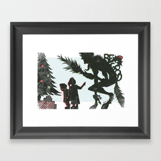 Be Good Krampus Framed Art Print