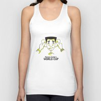 world cup Tank Tops featuring Mummy Daddy's World cup by Jyoti Khetan