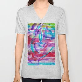 10   | 191128 | Abstract Watercolor Pattern Painting Unisex V-Neck