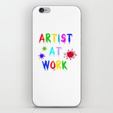 Artist at Work iPhone & iPod Skin