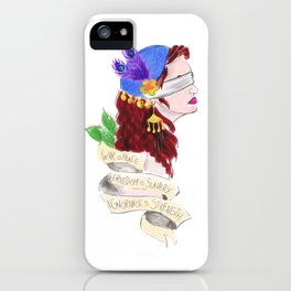 Dystopian justice tattoo flash iPhone Case