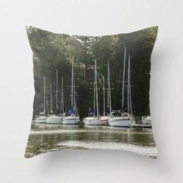 Sail Boats Throw Pillow
