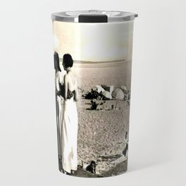 Cannes Pose BW Travel Mug