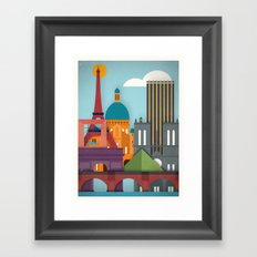 Touristique - Paris Framed Art Print