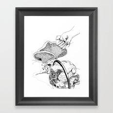 Mushroom Hunters Framed Art Print