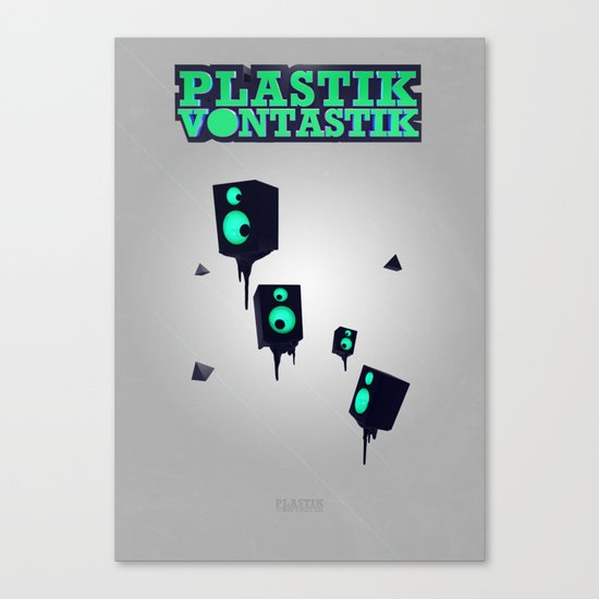 Plastik Vontastik - The Speakers Canvas Print