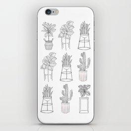 Houseplants Pattern iPhone Skin