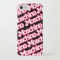 moschino iPhone & iPod Cases featuring Moschino Everything Black by RickyRicardo787