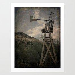 Old Windmill Art Print