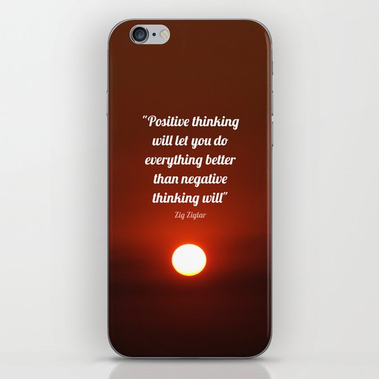 Positive Thinking  iPhone & iPod Skin