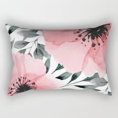 Big Watercolor Flowers Rectangular Pillow
