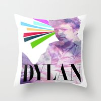 dylan Throw Pillows featuring Dylan by Coyvan