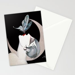 Art Deco Woman Stationery Cards