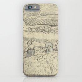 Landscape with Peasant Women Harvesting iPhone Case