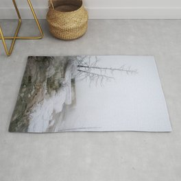 Steam and Snow Rug