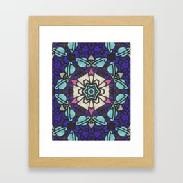 Saturn in Teal Leather - Photo of Leather, Suede and Krafttech Art Framed Art Print